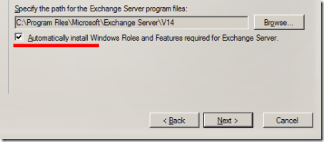 Exchange 2010 SP1 Setup, Automatically Install Windows Roles and Features