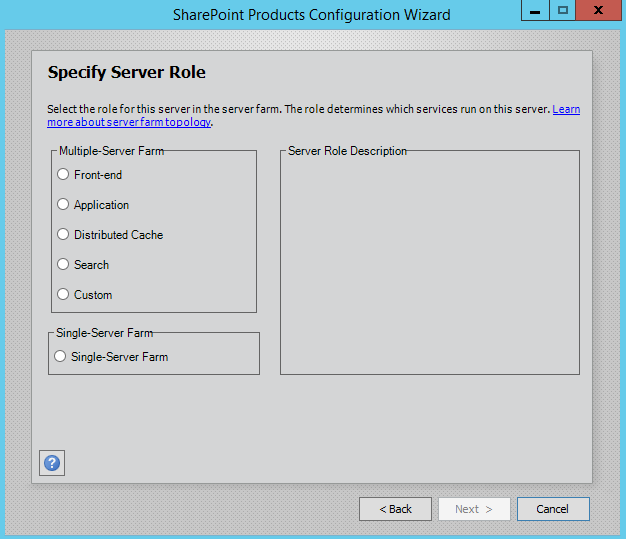 SharePoint-2016-Specify-Server-Role